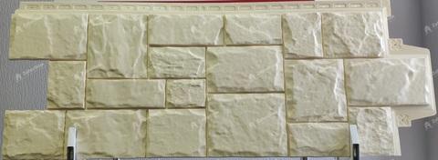Фасадная панель Гранд Лайн Крупный камень Бежевый 1102,5х417,4 мм