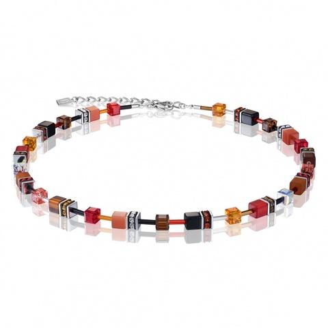 Колье Coeur de Lion 2838/10-0302 цвет красный, коричневый, оранжевый, чёрный