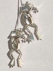 Лягушки (серьги из серебра)