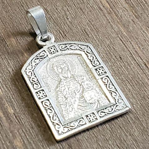 Нательная именная икона святой Владислав медальон кулон с молитвой