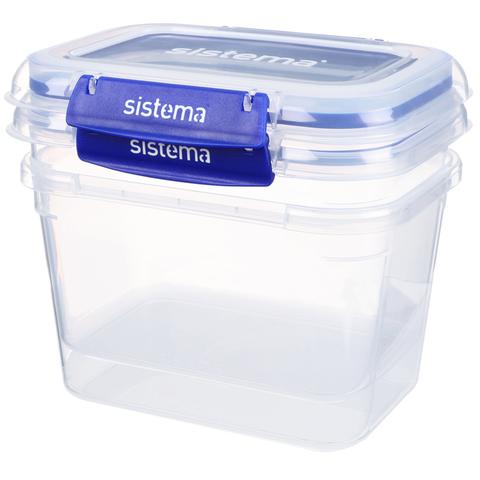 """Набор герметичных контейнеров Sistema """"KLIP IT+"""" 1,49 л, 3шт."""