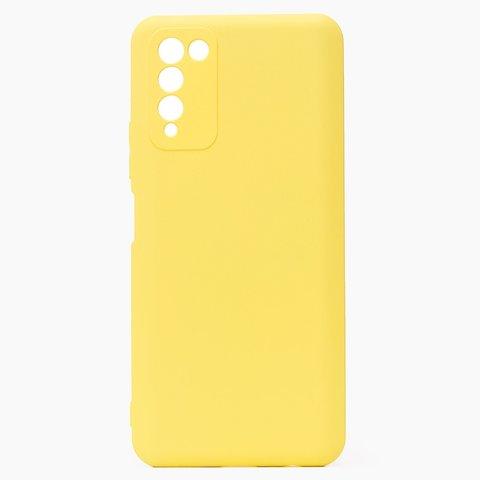 Чехол для Huawei Honor 10X Lite Софт тач мягкий эффект   микрофибра, желтый