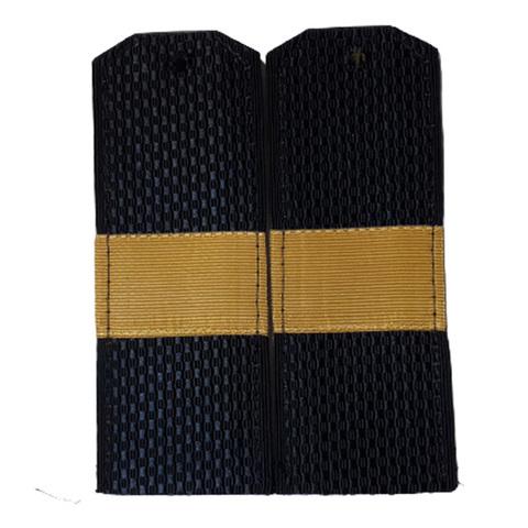 Погоны синие ст. сержант с латунным галуном (пог. лента, на пластике)