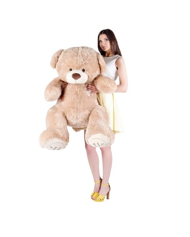 Игрушка Плюшевый медведь Феликс I Love You (150 см). Кофейный