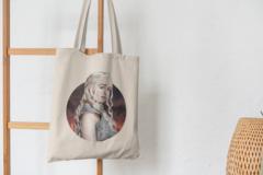 Сумка-шоппер с принтом Игра престолов, Дейенерис (Game of Thrones, Daenerys) бежевая 003