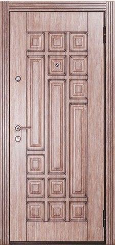 Дверь входная Бульдорс Lux-25 P-3 стальная, дымчатый дуб с патиной, 2 замка