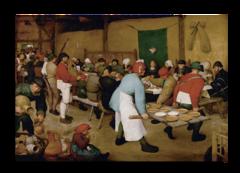 """Репродукция """"Питер Брейгель - Крестьянская свадьба 1568 """""""