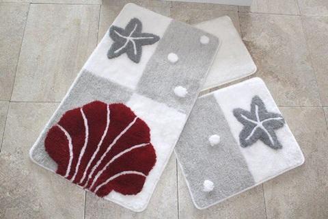 Комплект ковриков для ванной и туалета ЗВЕЗДА, серый