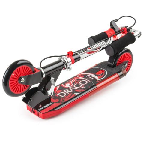 Двухколесный самокат с дымом, звуком, светом Small Rider Dragon