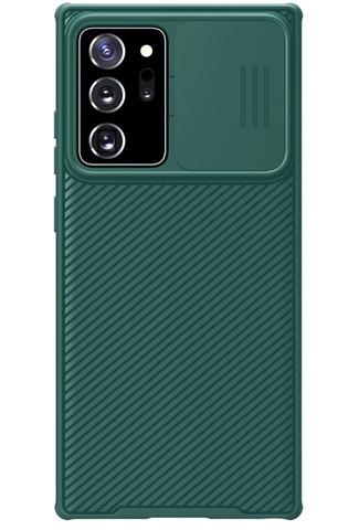 Темно-зеленый чехол для Samsung Galaxy Note 20 Ultra от Nillkin серия CamShield Pro Case с защитной шторкой для задней камеры
