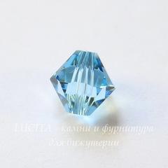 5328 Бусина - биконус Сваровски Aquamarine 8 мм