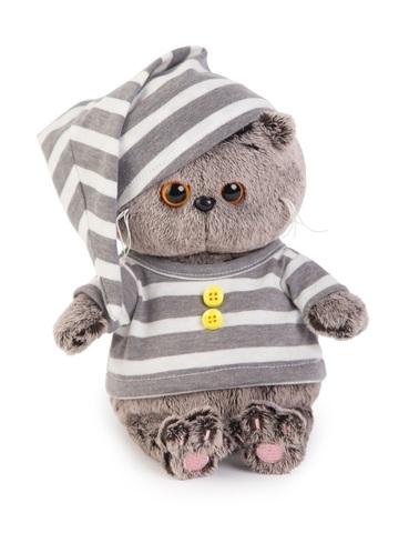 Кот Басик Baby в полосатой пижамке