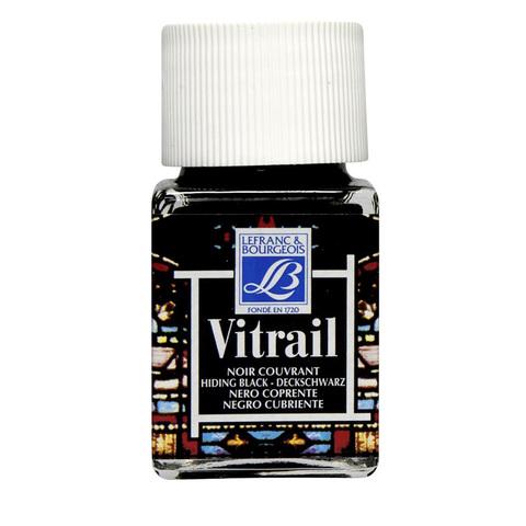 Краска по стеклу Lefranc&Bourgeois VETRAIL 50 мл 267, черный