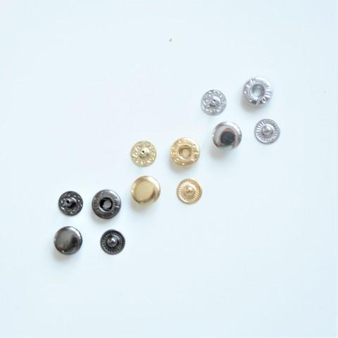 Кнопка металлическая, набор 3шт , размер 12,5мм, цвет в ассортименте