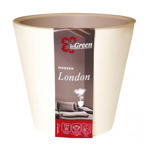 Горшок для цветов London  D 160 мм, 1,6 л Сливочный ING6204СЛ
