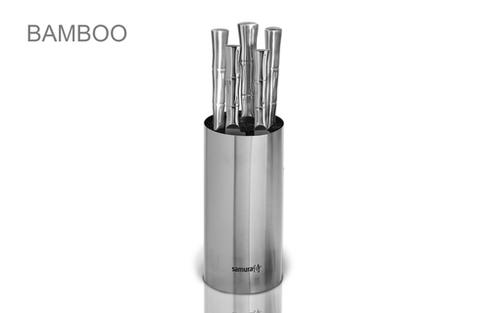 SKB-06M Набор из 5 кухонных стальных ножей и подставки Samura BAMBOO