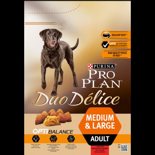 Сухой корм Сухой корм для взрослых собак, Purina Pro Plan  DuoDelice, крупных и средних пород, с говядиной и рисом 2_5_взр_с_гов.png