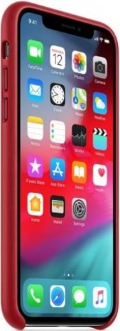Клип-кейс Apple iPhone XS кожаный оригинальный MRWK2ZM/A Red