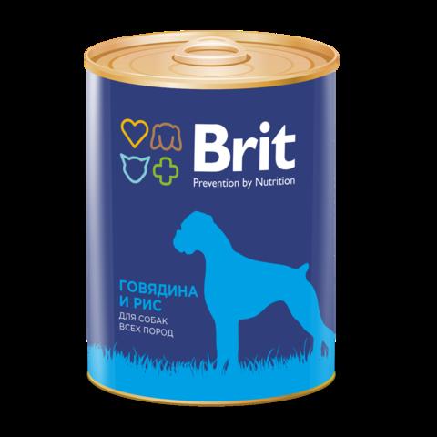 Brit Premium Beef & Rice Консервы для собак Говядина и Рис