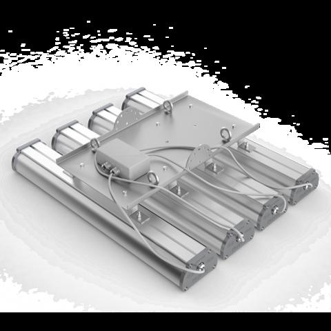 Общий вид подвесного крепления светильников Iron в группу по четыре