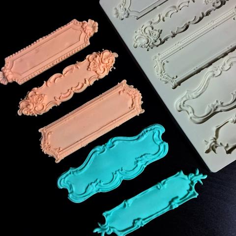 Молд силиконовый РАМКА (ВИЗИТКИ) 5 фигурок