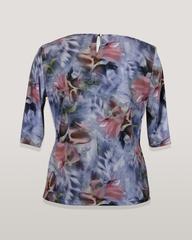 Блузка Laura Canorra 1703 завязка цветы к/р