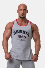 Мужская майка Nebbia Old-school Muscle tank top 193 Light grey