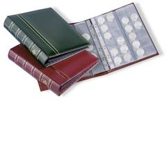 Альбом OPTIMA classic, с шубером, включая 10 листов для монет, бордовый (по 2 листа M15, M35, M54 и 4 листа M24)