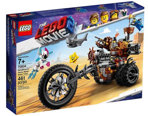 LEGO Movie 2: Хеви-метал мотоцикл Железной бороды 70834 — MetalBeard's Heavy Metal Motor Trike! — Лего Муви Фильм
