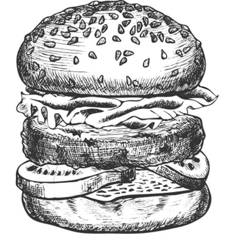 Бургер з сьомгою