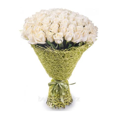 Букет из 75 белых роз (местные)
