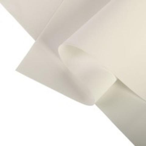 Фоамиран Шёлковый 1мм, цвет белый №101, размер 60х70.
