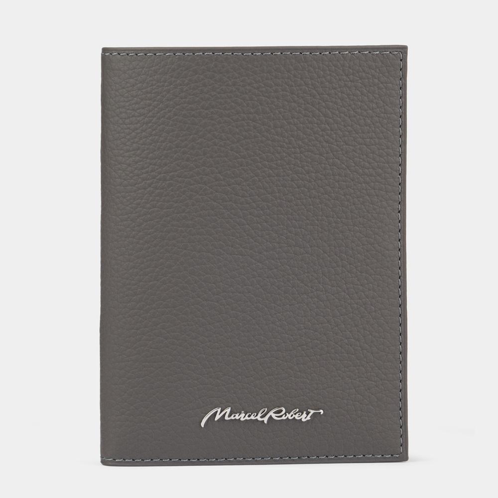 Обложка на паспорт и для автодокументов Paris Easy из натуральной кожи теленка, серого цвета