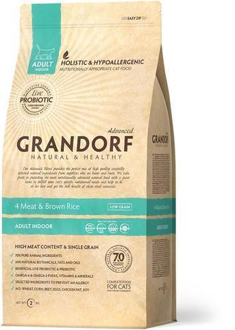 Grandorf 4 Meat & Brown Rice Adult Indoor