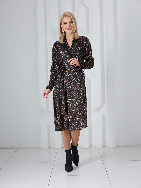 Платье plt-51739f/черный-цветы