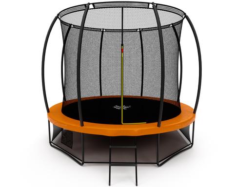 Батут Триумф Норд Премиальный 305 см серый/оранжевый