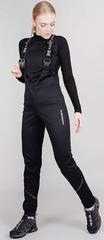 Женские лыжные брюки NordSki Base Black с высокой спинкой