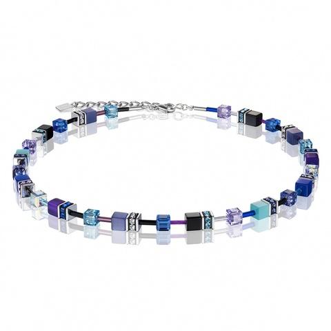 Колье Coeur de Lion 2838/10-0708 цвет синий, чёрный, голубой