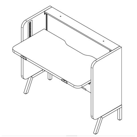 STAND UP стол прямой