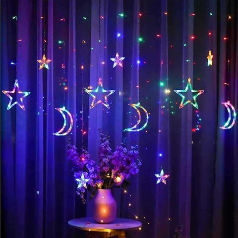 Гирлянда месяц и звезды