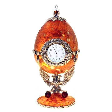 Часы-шкатулка из янтаря «Державные»