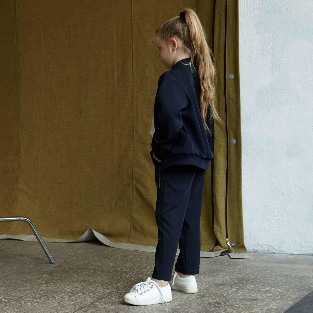 Детский школьный костюм для девочек в синем цвете