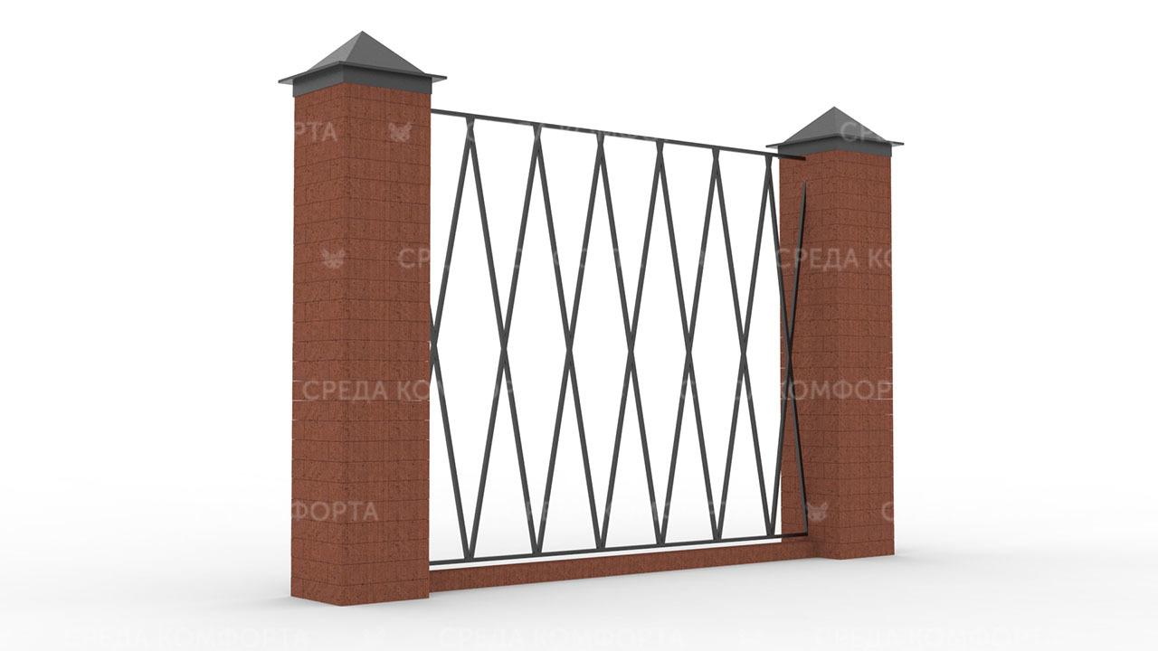 Забор из профильной трубы ZBR0168