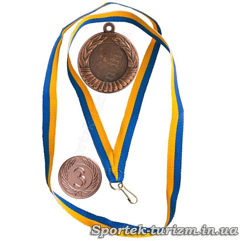 Бронзовая медаль за 3 место, ленточка и вставка