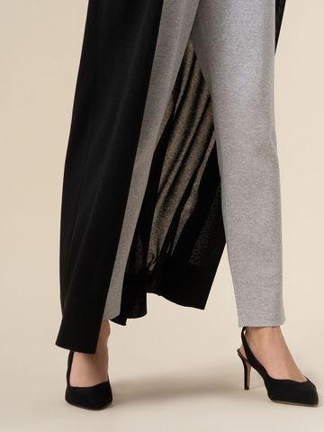 Женский удлиненный кардиган черного цвета из вискозы - фото 5