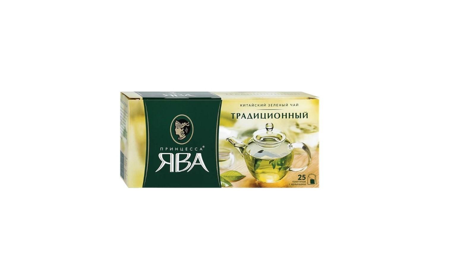 Принцесса ЯВА (зеленый чай) 25 пакетиков