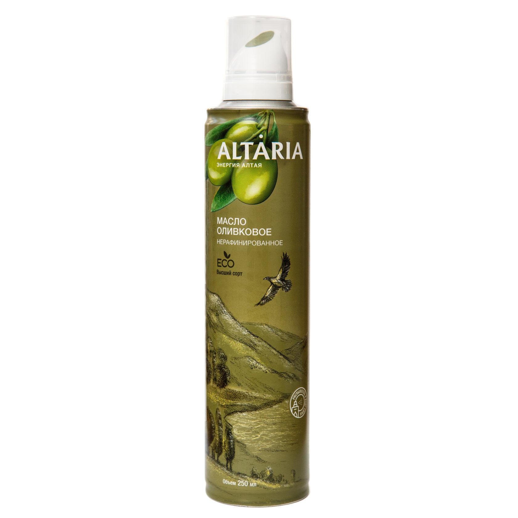 Алтария масло оливковое нерафинированное 250 мл