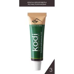 Kodi, Краска для бровей и ресниц, коричневая, 15 мл
