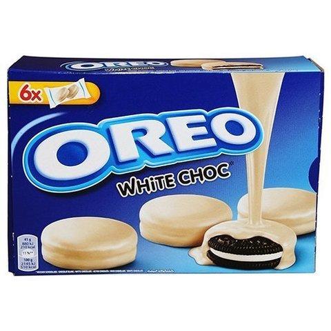 Печенье Oreo Choc White Орео покрытое белым шоколадом 246 гр