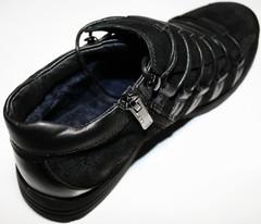Зимние полуботинки сникерсы мужские. Черные полуботинки кроссовки зимние мужские натуральная кожа. Спортивные туфли кроссовки с мехом Welfare BN.